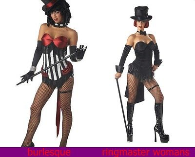 Sexy Ringmaster Adult Costume  and Burlesque Beauty New (Burlesque Beauty Kostüm)