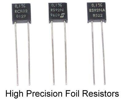 0.1 2ppm Very High Precision Sfernice Foil Resistor Rck Rs92n Various Values