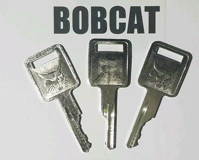3 Bobcat Keys Fits Skid Steer Mini D250 Ignition Keys Fits Case Farmall