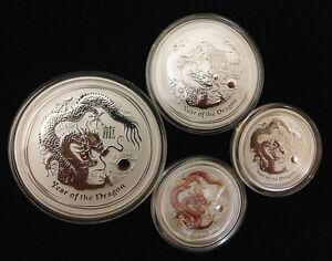 2012 two 1/2oz, 1oz, 2oz Lunar Year of the Dragon - 999 Fine Silver Bullion Coin