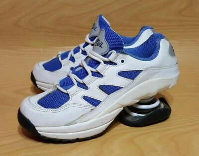 Z COIL Freedom Womens Sz W8 Pain Relief Orthopedic Comfort Shoes BLUE WHITE