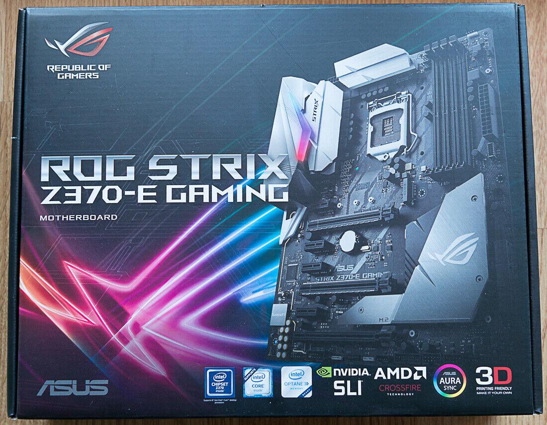 Carte mère asus rog strix z370-e gaming 1151 atx - avec tous ses accessoires