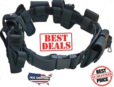 Duty Belt Official 10 Pc Police Officer Security Guard Law Enforcement Equipment