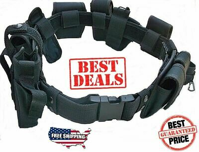 Duty Belt Deluxe 10 Pc Police Officer Security Guard Law Enforcement Equipment