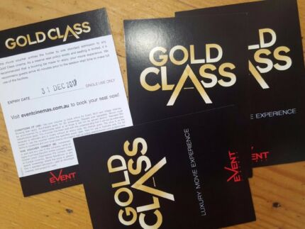 Gold class tickets - 4 for sale, expiring end of 2017