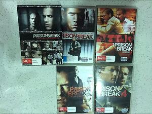 Prison Break Seasons 1 - 4 DVDs Holmview Logan Area Preview