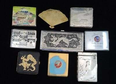 Collection of Cigarette Cases Japan Airmen's Club Philippines Korea WWII