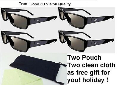 4 Pairs New XPG201 THEATER PASSIVE 3D GLASSES for Passive ty