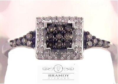 Brandy Diamond® Chocolate Brown Silver Popular Princess