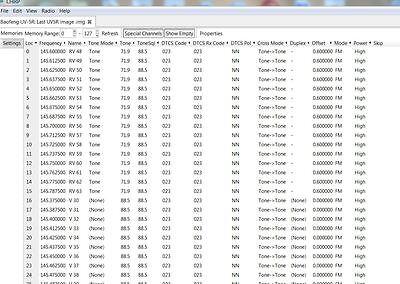 BAOFENG UV5R 128 CHANNEL PROGRAM FILE CD  (RADIO READ) HAM AND MARINE CHANNELS