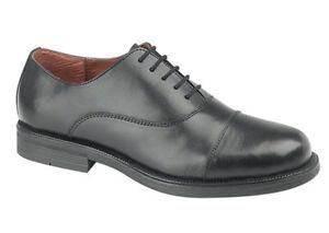 Mens-Boys-Smart-Black-Leather-Oxford-Cadet-Shoes-Sizes-3-14-Free-P-P