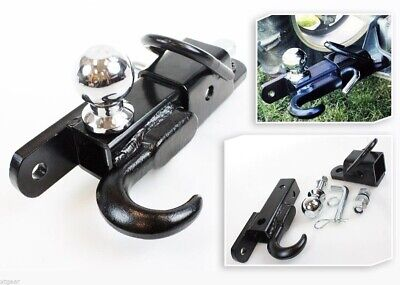 Atv 3-way Receiver Hitch 2 Hitch Ball Tow Hook Mount Draw Bar Tractor Trailer