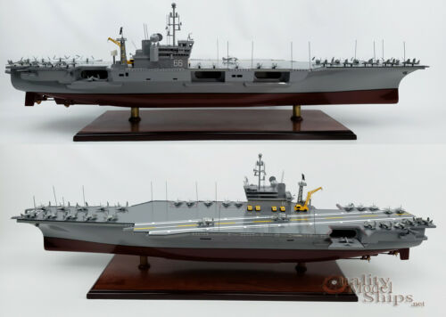 USS AMERICA CV-66 - Handcrafted Aircraft Carrier Display Model Scale 1/300 NEW