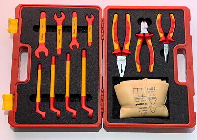 Booher 12pc Insulated Tool Set 0200406 Electrician Wrenches Pliers Gloves