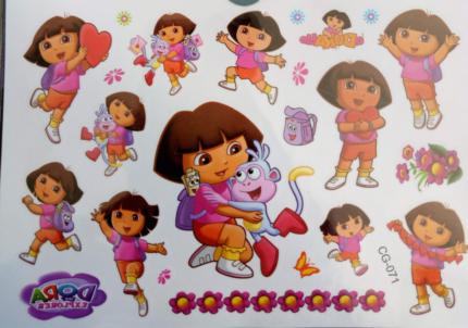 New Dora the Explorer kids temporary tattoo