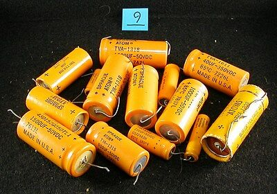 Used Capacitors - Sprague Atom - Lot 9
