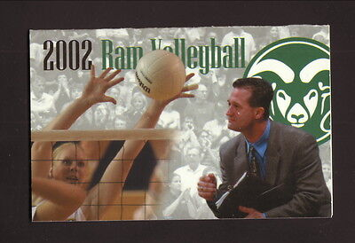 Colorado State Rams--2002 Volleyball Pocket Schedule--Signs Now/Coors (Colorado State Rams Pocket)