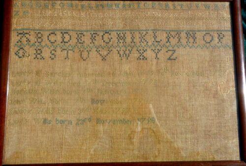 1810 US Genealogy Sampler of Barclay/Wills Marriage Nov 1791 & Birth of Children