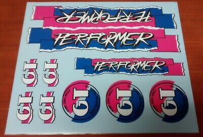NOS /'87 GT BMX PRO PERFORMER FRAME DECAL clear sticker old school bmx freestyle
