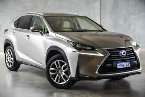2016 Lexus NX AYZ10R NX300h E-CVT 2WD Luxury Silver 6 Speed Constant Variable Wagon Hybrid Osborne Park Stirling Area Preview