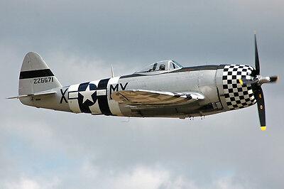 1/10 Scale American WW-II Republic P-47 Thunderbolt  Plans,Templates,Instruction