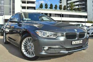 2014 BMW 3 Series F30 316i Luxury Line Sedan 4dr Auto 8sp 1.6T Grey Automatic Sedan