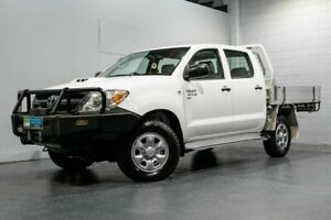 2007 Toyota Hilux KUN26R 07 Upgrade SR (4x4) White 5 Speed Manual Dual Cab Chassis