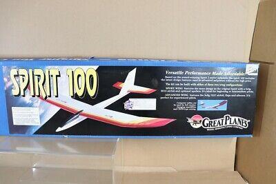 "GREAT PLANE KITS SPT1 BALSA WOOD SPRIT 100 GLIDER AEROPLANE 99.5"" WING SPAN nv"