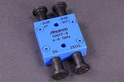 Anaren Hybrid Coupler 4 Ghz To 8 Ghz Sma 2-way Power Split 10017-3