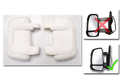 FIAT DUCATO Door Mirror Casing PROTECTOR Protective Covers WHITE Pair 2006 On