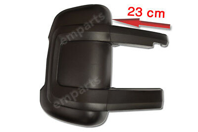 FIAT DUCATO PEUGEOT BOXER Door Mirror Casing Cover BLACK LONG ARM OS  2006