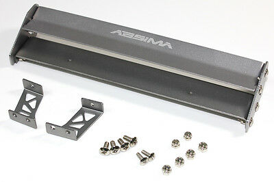 Absmia 1:10 RC Drift Car Aluminium Spoiler Rear Wing 165mm Gunmetal  #2320009