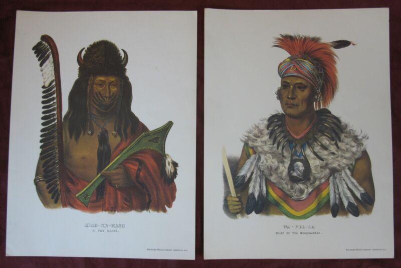 Native American Print WA-PEL-LA Musquakees Chief Kish-Ke-Kosh Fox Brave Biltmore