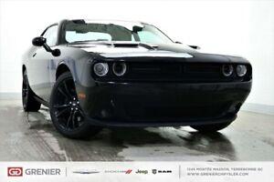 2018 Dodge Challenger BLACK ON BLACK+CUIR+TOIT+SXT PLUS BLACK ON