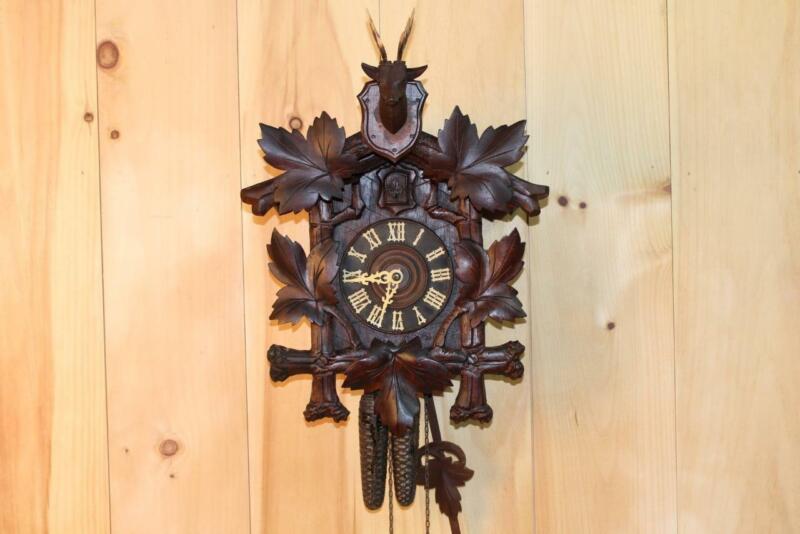 Antique German Black Forest Cuckoo Clock ~ Circa 1910
