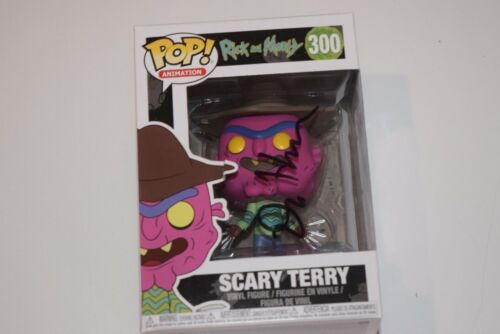 Dan Harmon Signed Rick and Morty SCARY TERRY Funko Pop Figure BAS Beckett COA