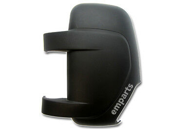 Vauxhall Movano Door Wing Mirror Cover 2010  2018 MK2 MKII Left Side NS Black