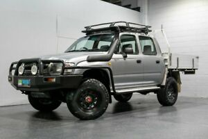 2002 Toyota Hilux KZN165R (4x4) Silver 5 Speed Manual 4x4 Dual Cab Pick-up