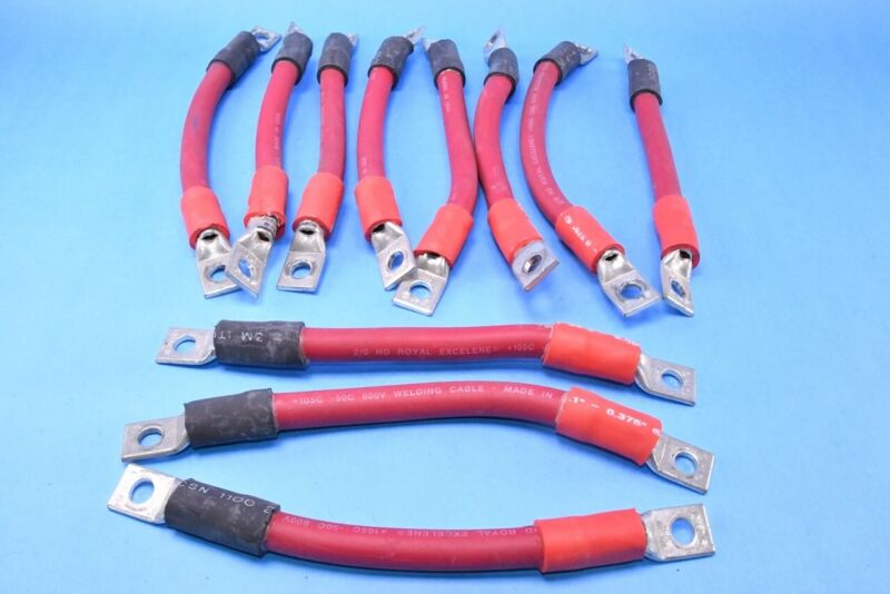 (11) Battery Ultra Super Capacitor Connection Bridge Cable Jumpers Excelene 2/0