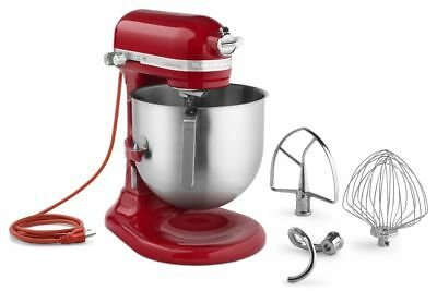 KitchenAid KSM8990ER Commercial 8-Qt Bowl Lift NSF Stand Mixer 1.3HP Empire Red