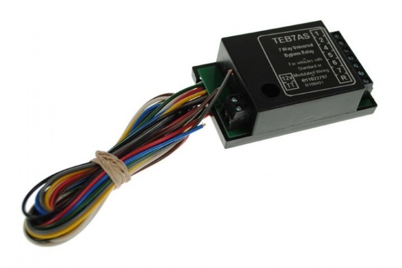12V 7 SEVEN WAY BYPASS RELAY UNIT WITH BUZZER TOWING WIRING TOWBAR SMART CHIP