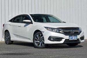 2018 Honda Civic 10th Gen MY18 VTi-S White 1 Speed Constant Variable Sedan