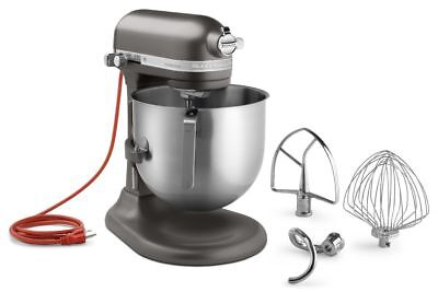KitchenAid KSM8990DP Commercial 8-Qt Bowl Lift NSF Stand Mixer 1.3HP Dark Pewter