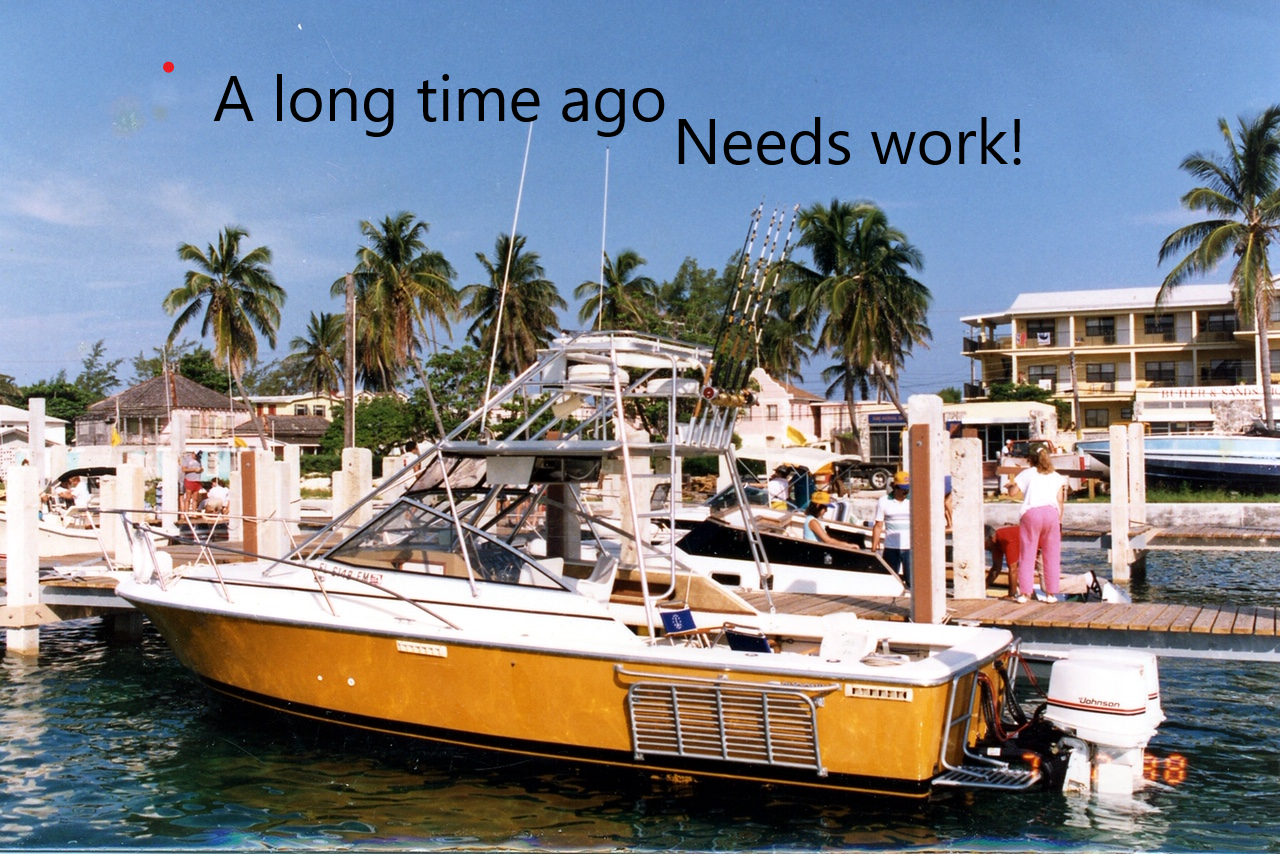 27' Phoenix WEEKENDER Offshore Fishing Boat Needs Outboards Motors