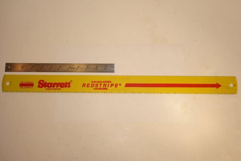 "NOS Starrett Redstripe 24"" x 2"" x .100"" 4 TPI HSS Power Hacksaw Blade RS 24040-0"