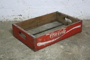 VINTAGE WOODEN COCA COLA COKE SODA CRATE 60s RETRO TRUG BOX
