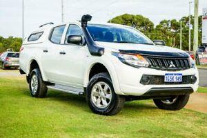 2016 Mitsubishi Triton MQ MY16 GLX+ Double Cab White 5 Speed Sports Automatic Utility Wangara Wanneroo Area Preview