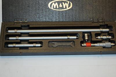 Nos 6pc Moore Wright Measuring Rod And Micrometer Boxed Set Made In England
