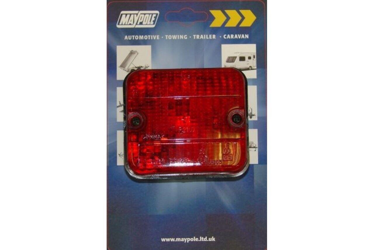 12V SQUARE REAR CAR VAN TRAILER BOARD REPLACEMENT SPARE FOG LAMP BULB
