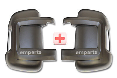 FIAT DUCATO CITROEN RELAY Door Wing Mirror Black Casing Cover Pair Left + Right